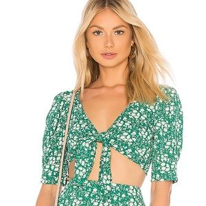 For love and lemons Zamora floral crop top, Kelly